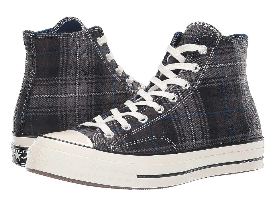 Converse Chuck 70 Plaid Hi (Black/Thunder/Egret) Lace up casual Shoes