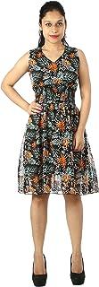 MODISH Women's Designer Flower Printed Dress