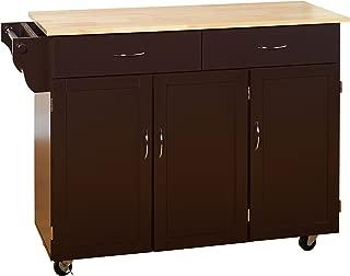 Target Marketing Systems XL Kitchen Cart, X-Large, Espresso/Natural