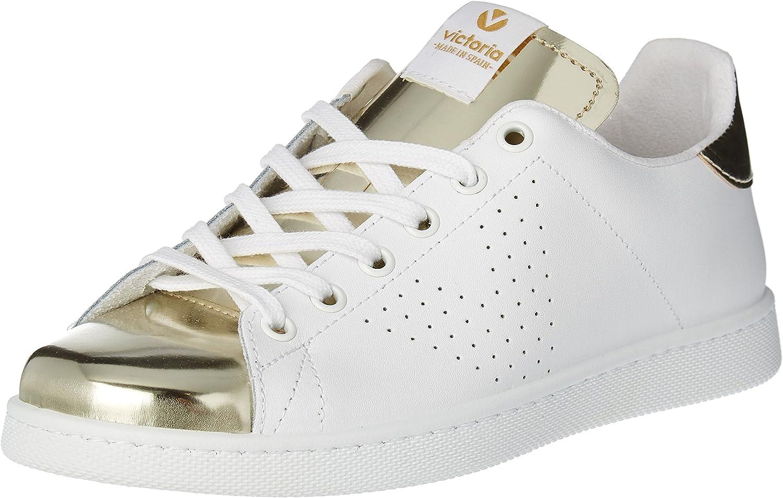 Victoria Women's Deportivo Piel Espejo Low-Top Sneakers White