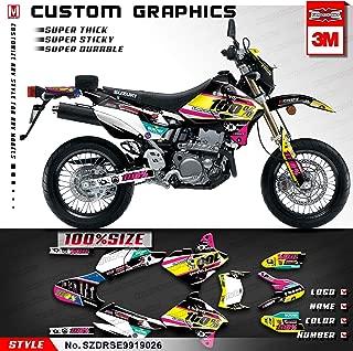 Kungfu Graphics Custom Decal Kit for Suzuki DRZ 400 SM Supermoto 1999 2000 2001 2002 2003 2004 2005 2006 2007 2008 2009 2010 2011 2012 2013 2014 2015 2016 2017 2018 2019, Yellow Pink White
