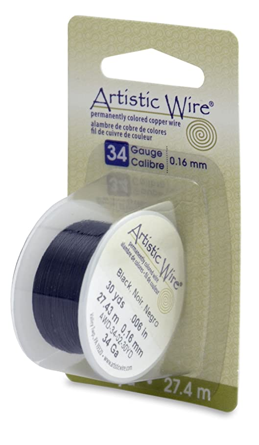 Beadalon Artistic, 34 Gauge, Black Color, 30 yd (27.4 m) Craft Wire, s589503231