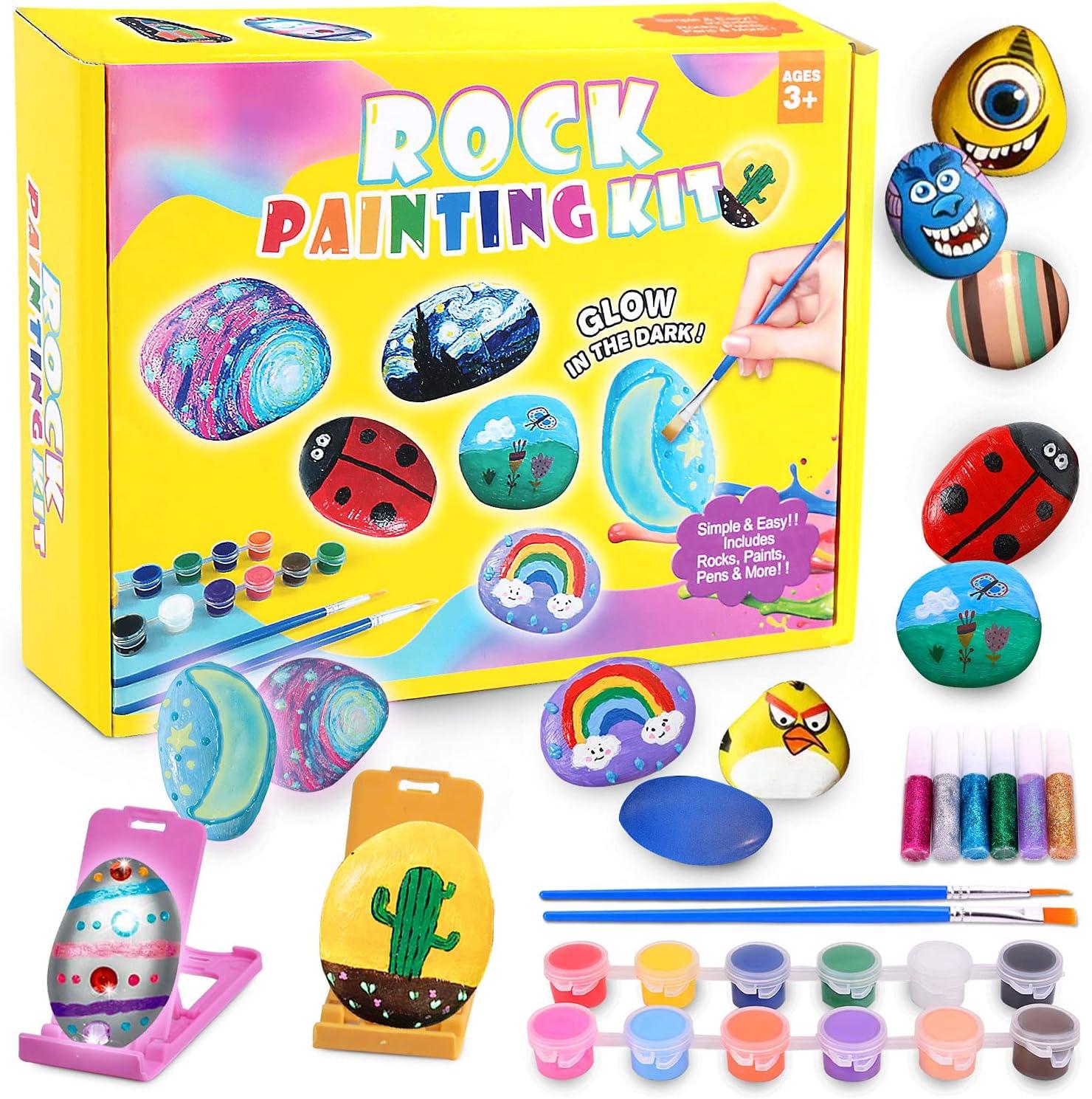 Unirolic Rock Painting Kit Art Crafts Kids B Rocks Paint It is ...