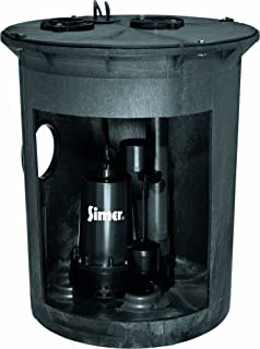 Simer 3985C 1/2 HP Pre-Plumbed Sump Pump and Basin System