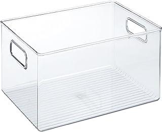 iDesign Caja transparente con asas, organizador de cocina