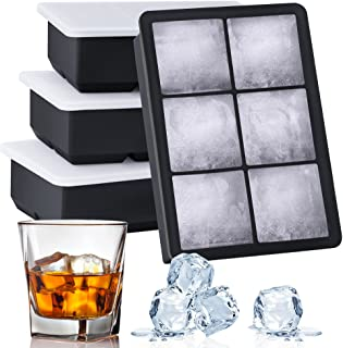 Kootek Ice Cube Trays 4 Pack - Silicone Ice Tray for Making 24 Pcs Large Ice Cubes, Easy Release Reusable Molds Maker with...