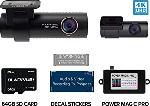 BlackVue DR900S-2CH with 64GB Micro SD Card with Power Magic Pro Hardwiring Kit Included | WiFi GPS 4K Recording with Parking Mode BV-KIT111