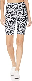 Calvin Klein Womens PF9S8978 Print Icon Logo Waistband High Waist Bike Short Shorts