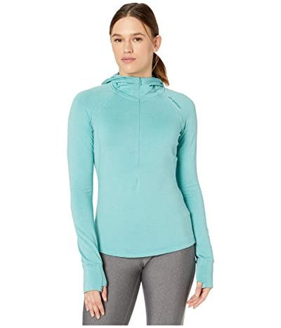 Brooks Notch Thermal Hoodie (Heather Teal) Women