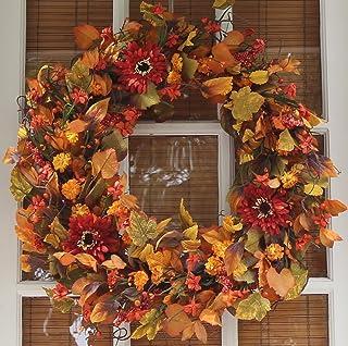 Highland Silk Fall Door Wreath - 60cm