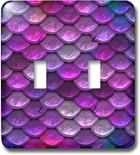 3dRose lsp/_272863/_1 Multicolor Girly Blue Luxury Elegant Mermaid Scales Glitter Toggle Switch Mixed