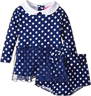 Isaac Mizrahi Baby Girls' Polka Dot Skirted Dress with Diaper Cover