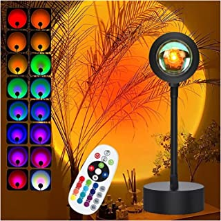 Zonsondergang lamp projector zonsondergang licht, met afstandsbediening 16 kleuren nachtverlichting koel giften van thuis ...