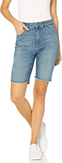 DL1961 Womens 12114 Jerry Bermuda Short Bermuda Shorts - Blue