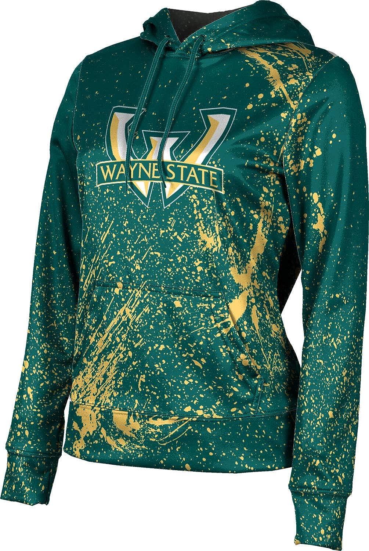 ProSphere Wayne State University Girls' Pullover Hoodie, School Spirit Sweatshirt (Splatter)