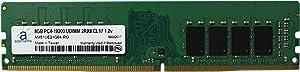 Adamanta 8GB (1x8GB) Desktop Memory Upgrade for Dell XPS 8920 DDR4 2400Mhz PC4-19200 Unbuffered DIMM 2Rx8 CL17 1.2v RAM DRAM