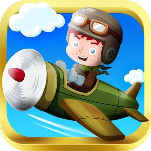 Arcade Kid Runner - Endless 3D-Fliegen-Aktion mit Krieg Plane - frei, für Kids Play