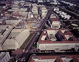 Photograph - Aerial view of Washington, D.C, offering a good view of the
