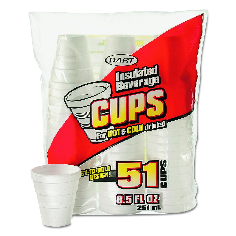 Dart 8RP51 Drink Foam Cups 8.5 oz 24 Soldering Bag Weekly update Bags White 51 Carto