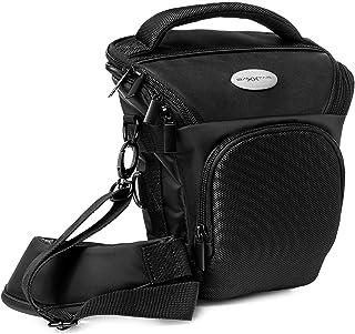 Baxxtar PRO NOVO SLR bolsa para cámara Reflex negra (correa de hombro correa de cadera correa túnel) compatible con p.ej. Canon EOS 200D 850D 2000D 4000D - Nikon D5600 D3500 etc.
