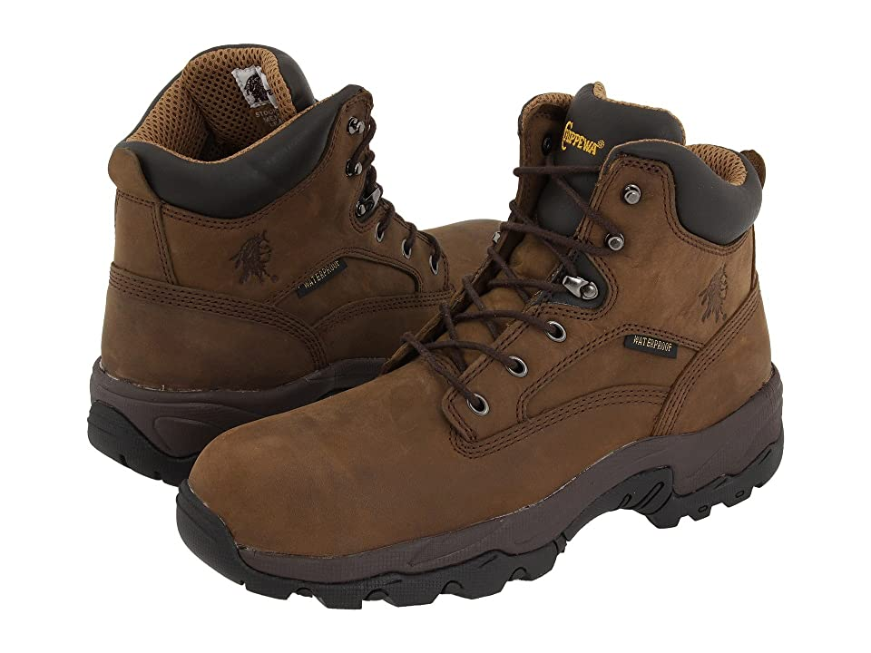 Chippewa 6 55161 WP Comp Toe (Brown) Men's Work Boots