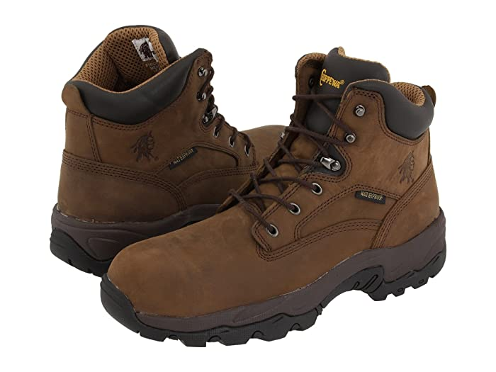 Chippewa 6 55161 WP Comp Toe (Brown) Men's Work Boots
