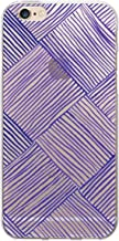 OTM Prints Clear Phone Case, Woven Dark Violet - iPhone 6/6s/7/7s