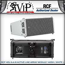 "RCF HDL 6-A-W Active LINE Array Module 1400W Speaker Two Powerful 6"" -White-"