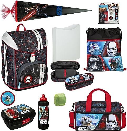 Familando Star Wars Schulranzen-Set 15tlg. mit Federmappe, Sporttasche, Schultüte 85 cm und Regenschutz