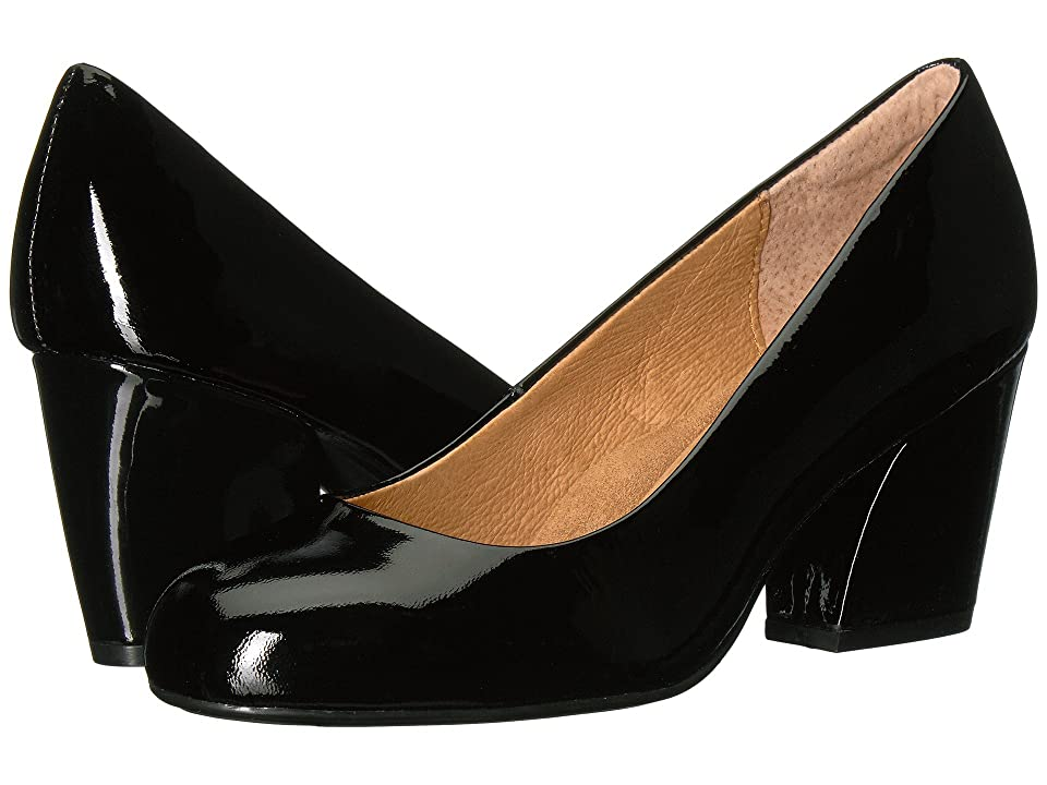 Sofft Tamira (Black Goat Patent) Women's 1-2 inch heel Shoes