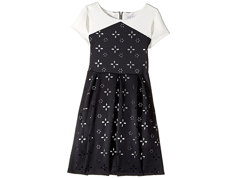 Us Angels Cap Sleeve Cut Out with A Full Skirt (Big Kids) (Black) Girl