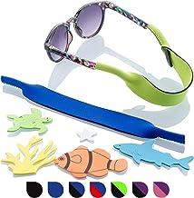 Óculos de sol infantil, alça para óculos, pacote com 2 – retentor de armação larga com adesivos de mar profundo