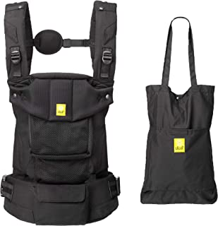 LÍLLÉbaby Serenity Airflow SIX-Position Ergonomic Baby & Child Carrier with Convertible Tote, Black – Cotton
