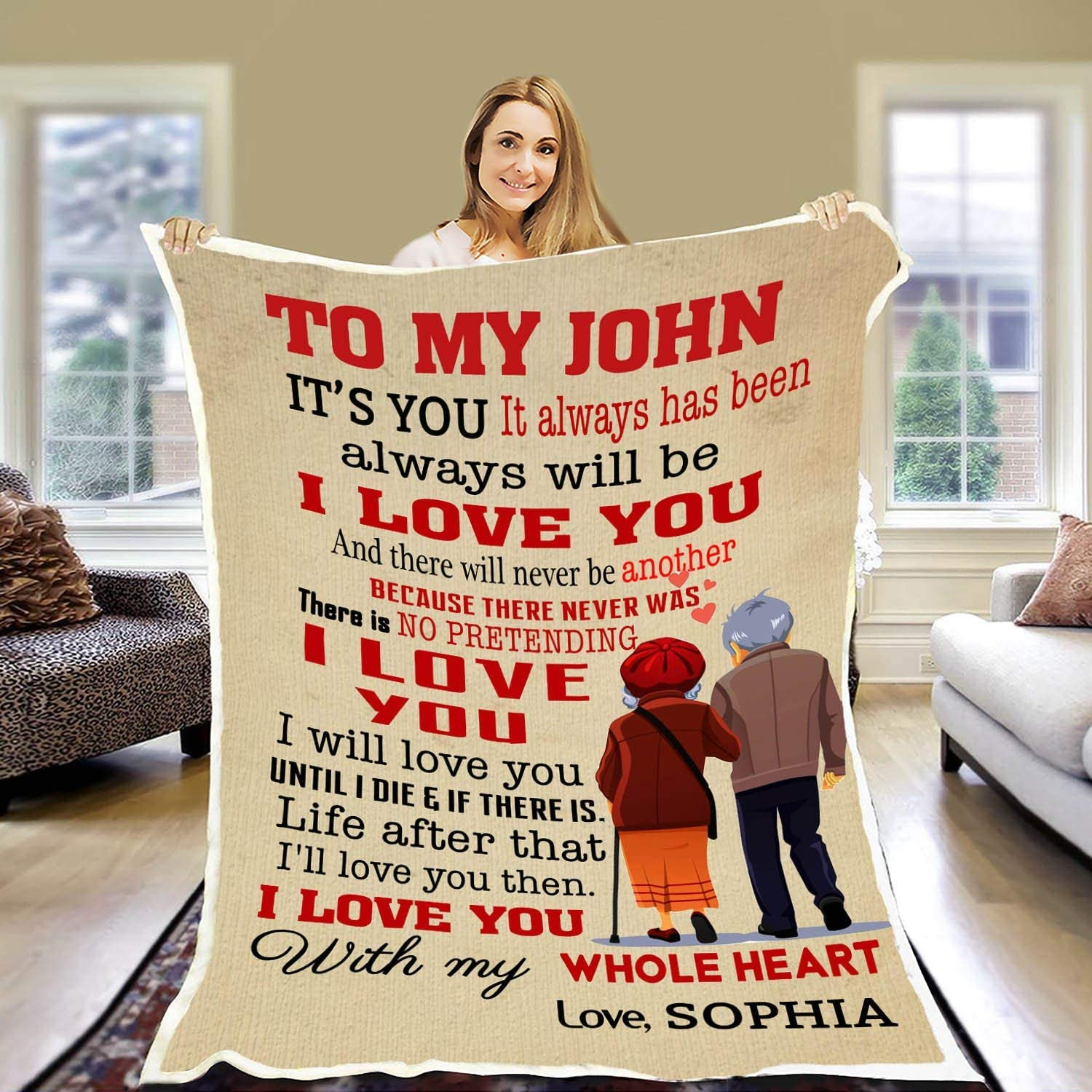 Personalized to My Husband Fleece Blanket Love from Cheap mail order shopping Year-end annual account I Will Wife