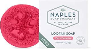 Naples Soap Company Loofah Soap, Cleanses, Exfoliates and Moisturizes Skin, Handmade in US, Vanilla-Scented Pure Paradise,...