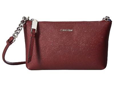 Calvin Klein Hayden Saffiano Key Item Crossbody (Merlot) Cross Body Handbags