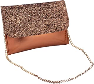 DNE Elegant Party Clutch Bag Chain Sling Bag For Women Girls