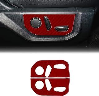 SUNJIKA Compatible with 2PCS Carbon Fiber Seat Button Panel Cover ...