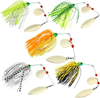 Sougayilang Fishing Lures Buzzbait Spinnerbait Jigs Lure for Bass Pike Fishing