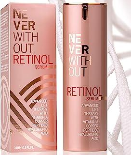 Retinol kombiniert mit Hyaluron Serum hochdosiert mit straffenden Peptiden, Kollagen und..