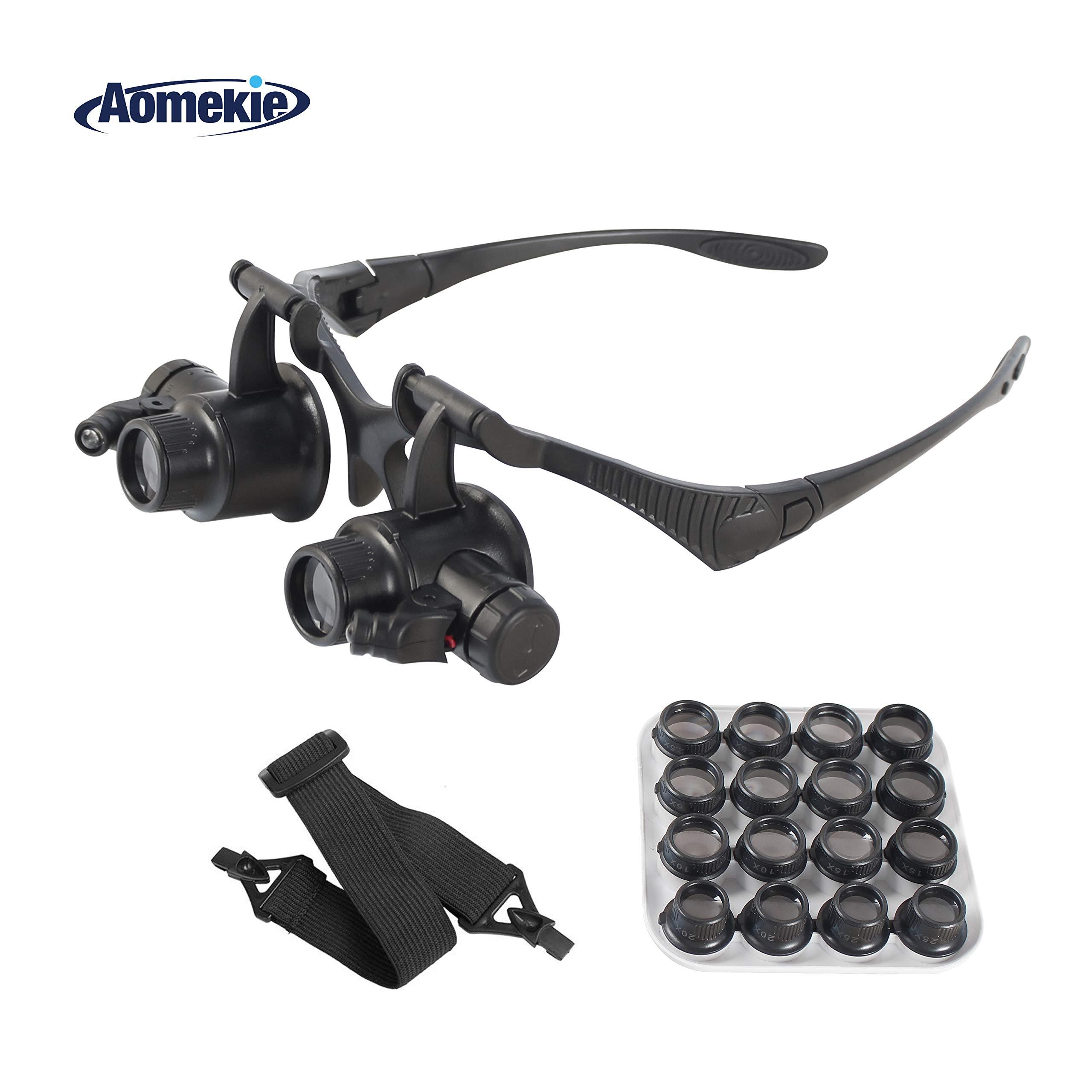 Illuminated Magnifying Headband Magnifier Interchangeable