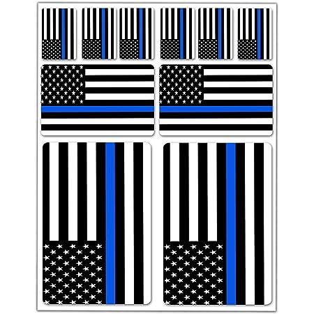 Biomar Labs 2 X Aufkleber 3d Gel Silikon Stickers Uk Usa Americanische Polizei Dünne Blaue Linie Flagge Thin Blue Line Police Flag Fahne Autoaufkleber F 35 Auto