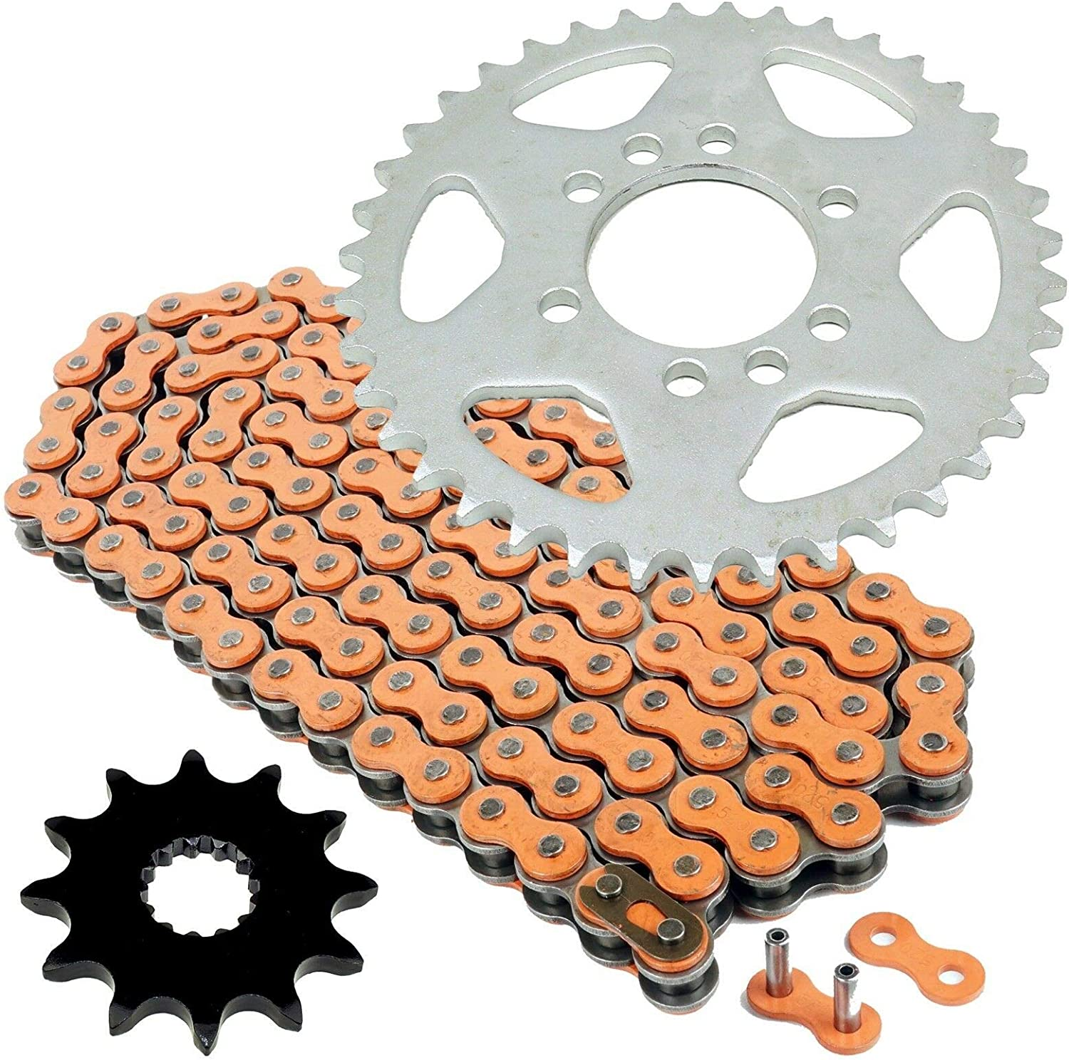 Caltric Orange Drive Chain And Compatible Kit Sprockets Tulsa Discount mail order Mall Suz With