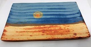 Bandeja de cerámica rectangular para alimentación y decoración 28x18,5x1,5