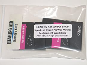 (3 Packs) Genuine Oticon ProWax MiniFit Replacement Wax Filters