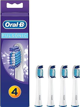 Oral-B Pulsonic Aufsteckbürsten, Passend für alle Oral-B Pulsonic Schallzahnbürsten, 4 Stück
