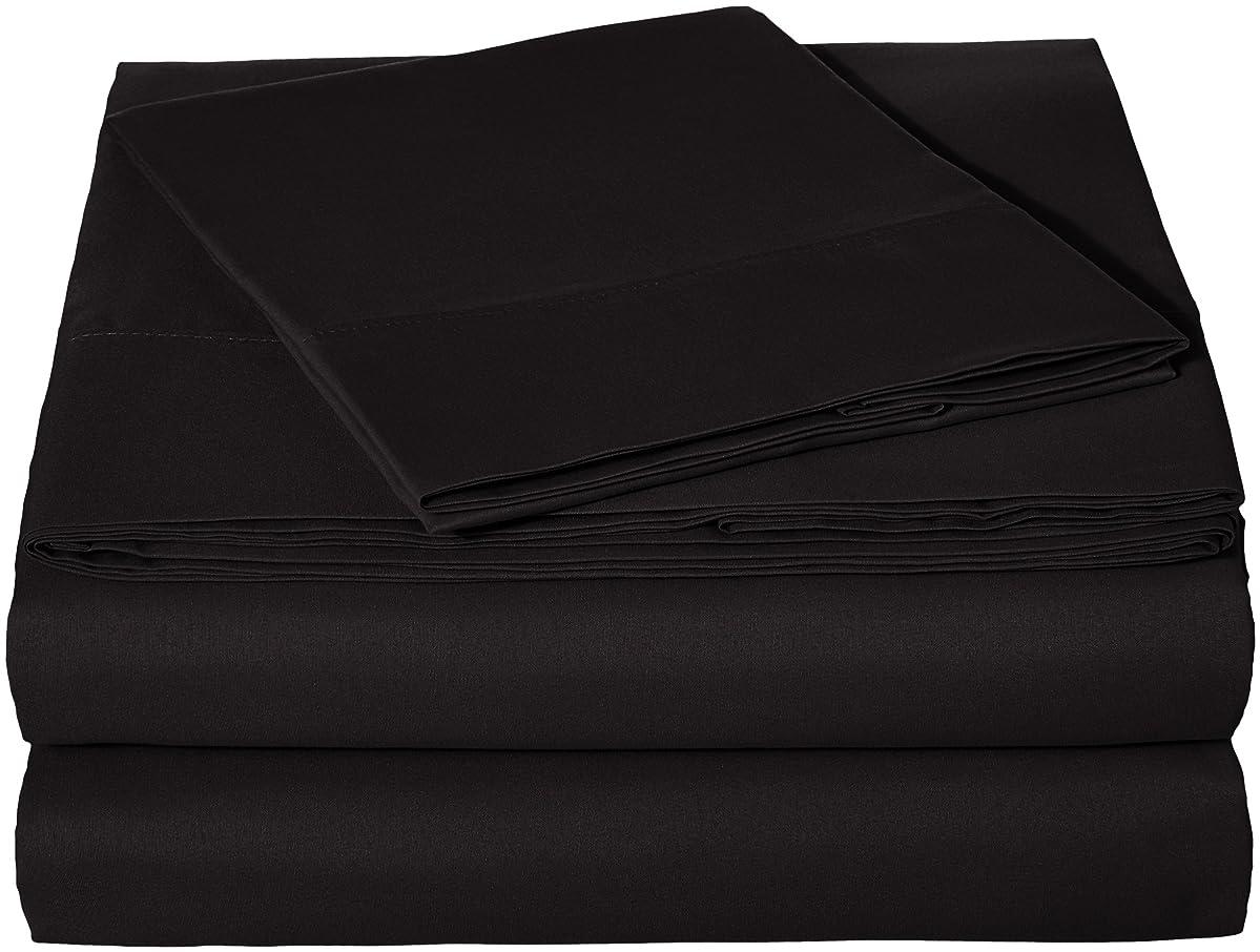 AmazonBasics Microfiber Sheet Set - Twin Extra-Long, Black