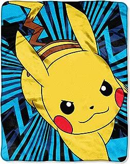 Pokemon PM 2041, Pikachu Silk Touch Throw Blanket Toy, Multicolor, 40 x 50
