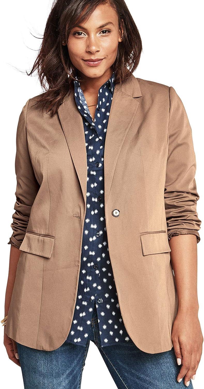 Roamans Women's Plus Size Boyfriend Blazer Professional Jacket