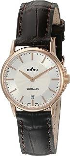EDOX - Reloj de Cuarzo Suizo para Mujer 57001 37R Air Les Bemonts con Pantalla analógica, Color marrón